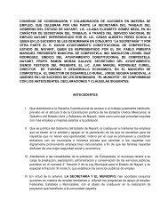 convenio de coordinación y colaboración de acciones en materia de ...