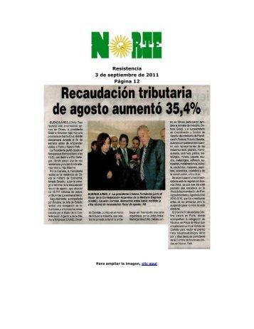 Resistencia 3 de septiembre de 2011 Página 12 - Confederación ...