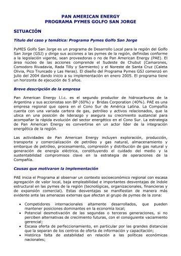Programas PYMES Golfo San Jorge. RSE. - Consejo Empresario ...