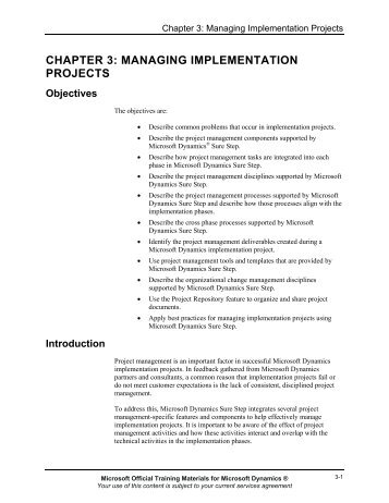 managing implementation projects - Business Computing, Inc.