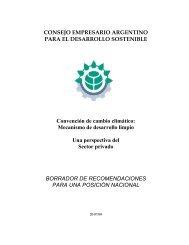Mecanismo de Desarrollo Limpio. Una Perspectiva del Sector Privado