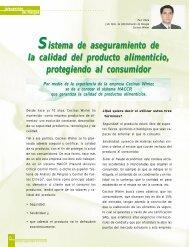 Sistema de aseguramiento de la calidad del producto alimenticio ...