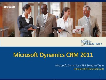 Microsoft Dynamics CRM 장점