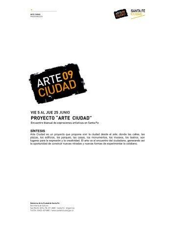 """PROYECTO """"ARTE CIUDAD"""" - Santa Fe Ciudad"""