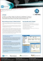 LS Retail Your benefits with LS Retail: