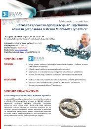 """""""Ražošanas procesu optimizācija ar uzņēmuma resursu plānošanas ..."""