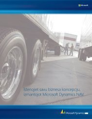 Istenojiet savu biznesa koncepciju, izmantojot Microsoft Dynamics ...
