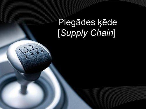 Piegādes ķēde [Supply Chain]