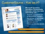 Microsoft Dynamics lietotājiem Personalizēta Interneta vietne, kas ...