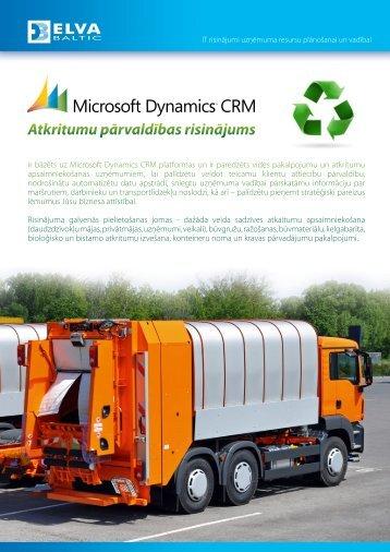 Atkritumu pārvaldības risinājums