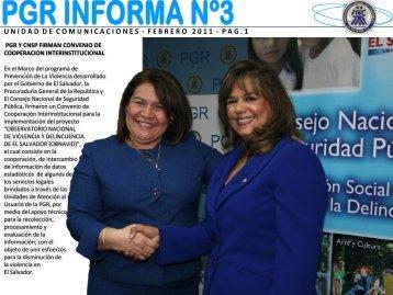 Número 3 - Febrero 2011 - Procuraduría General de la República ...