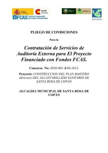 Pliego de Condiciones Auditoria Externa Definitivos - Municipalidad ...