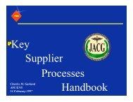 Key Supplier Processes Handbook