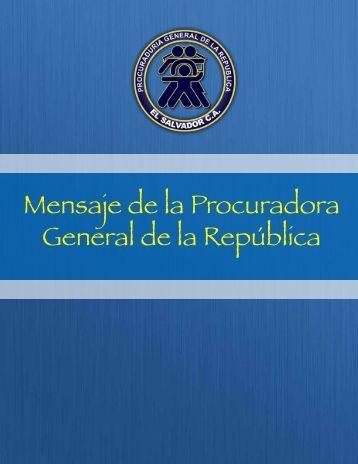Mensaje.pdf - Procuraduría General de la República de El Salvador