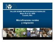 Microfinanzas rurales y migración - precesam