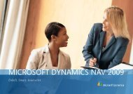 MICROSOFT DYNAMICS NAV 2009 - Inventio.IT A/S