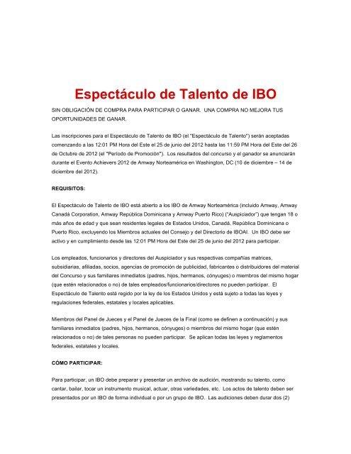 Espectáculo de Talento de IBO - Amway Achieve Magazine