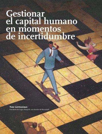 Gestionar el capital humano en momentos de ... - oit-intranet