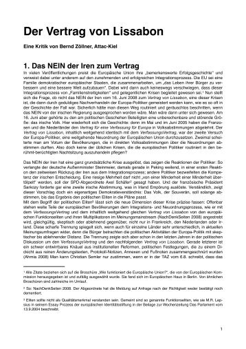 Der Vertrag von Lissabon - Berndzoellner.eu