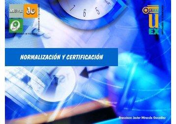 Capítulo 8.- Normalización y certificación