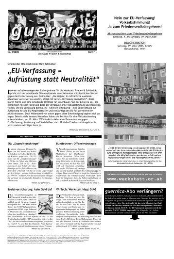 guernica 1/2005 - Friedenswerkstatt Linz