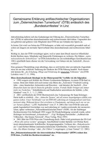 Gemeinsame Erklärung antifaschistischer Organisationen zum ...