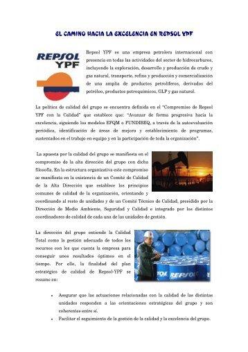 EL CAMINO HACIA LA EXCELENCIA EN REPSOL YPF