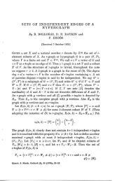 SETS OF INDEPENDENT EDGES OF A HYPERGRAPH By B ...