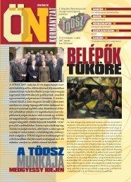 A TÖOSZ 2007. március 21-én megtartandó tiszt- újító ...