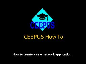 How to create a new network? - ceepus