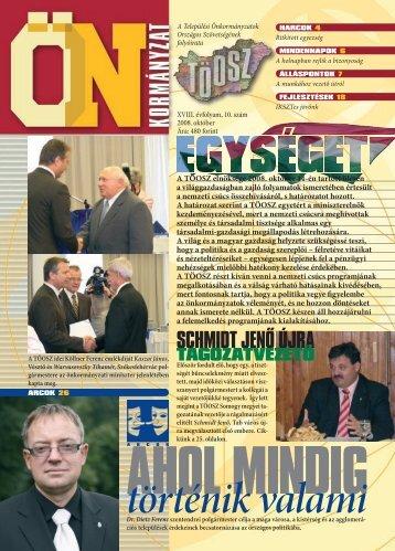 A TÖOSZ elnöksége 2008. október 14-én tartott ülésén a ...