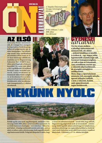 Tíz éve írtam utoljára a jelenlegi önkormányzati miniszterről ... - Töosz