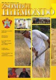 2009. július VII. évfolyam 6. szám Zsombó Község ...