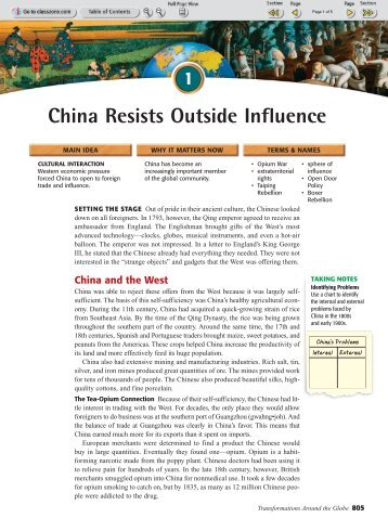 worksheet 28 1 china resists outside influence pp reeths puffer. Black Bedroom Furniture Sets. Home Design Ideas