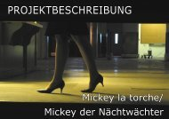 Projektbeschreibung Mickey der Nachtwächter - Liz Rech