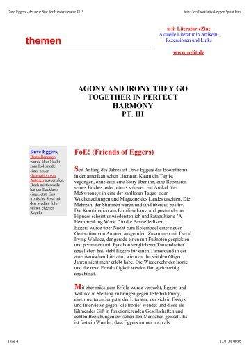 Dave Eggers - u-lit Literatur Magazin