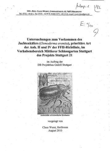 Gutachten - Baumpaten im Schlossgarten