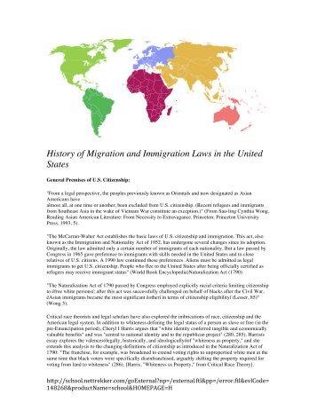 U.S. Immigration Since 1965