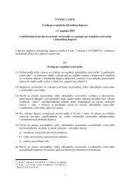 1 VÝNOS č. 1/2010 Úradu pre reguláciu železničnej dopravy z 3 ...