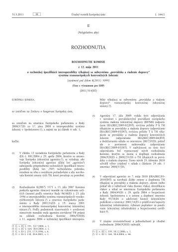 2. TSI – Prevádzka a riadenie dopravy - urzd.sk