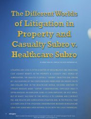 lItIgAtINg ANY CASe IS oFteN A MAtteR oF WeIgHINg RISK AND ...