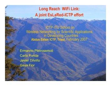 Long Reach WiFi Link - Wireless@ICTP