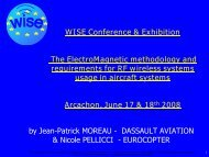 The Electro Magnetic methodology and requirements ... - WISE-Project