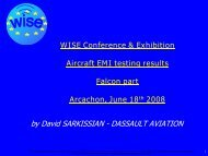 Aircraft EMI testing results Falcon part - WISE-Project