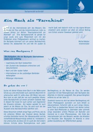 "Ein Bach als ""Patenkind"" - Aquafil"