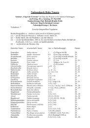Liste Vögel Seminar Nationalpark Hohe Tauern - Haus des Wassers ...