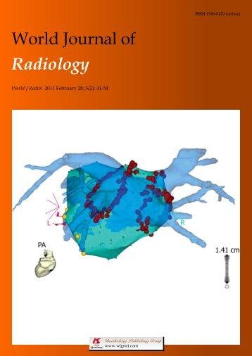 World Journal of Radiology - World Journal of Gastroenterology