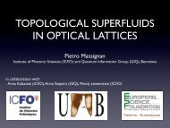 topological superfluids in optical lattices - Theory of Quantum Gases ...