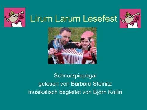 Lirum Larum Lesefest - Paula Fürst Schule