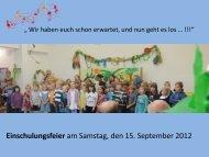 Einschulungsfeier - Paula Fürst Schule